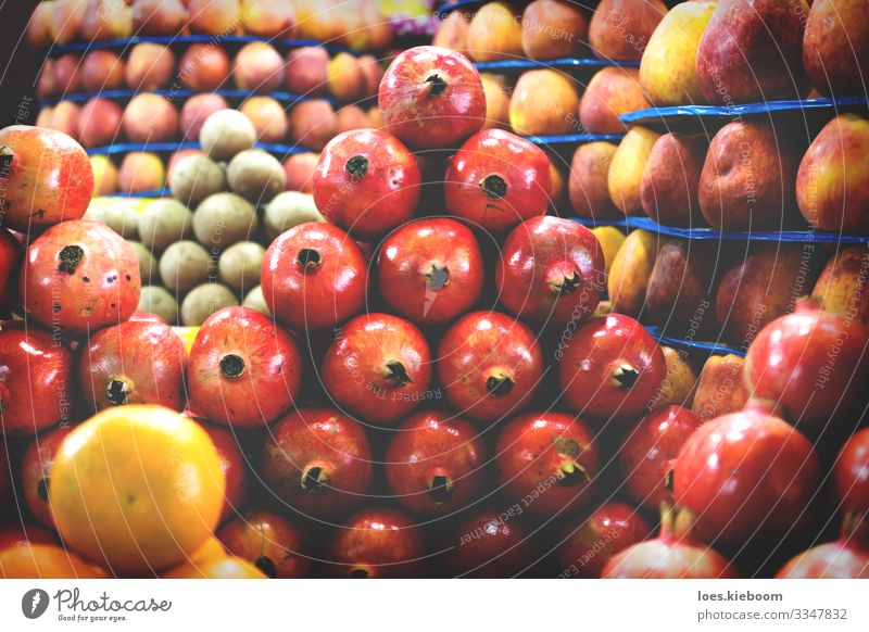 fruit towers Food Fruit Apple Orange Vegetarian diet Shopping Design Vacation & Travel Far-off places Trade Eating Exotic Fresh Healthy Sweet Yellow Red Joy