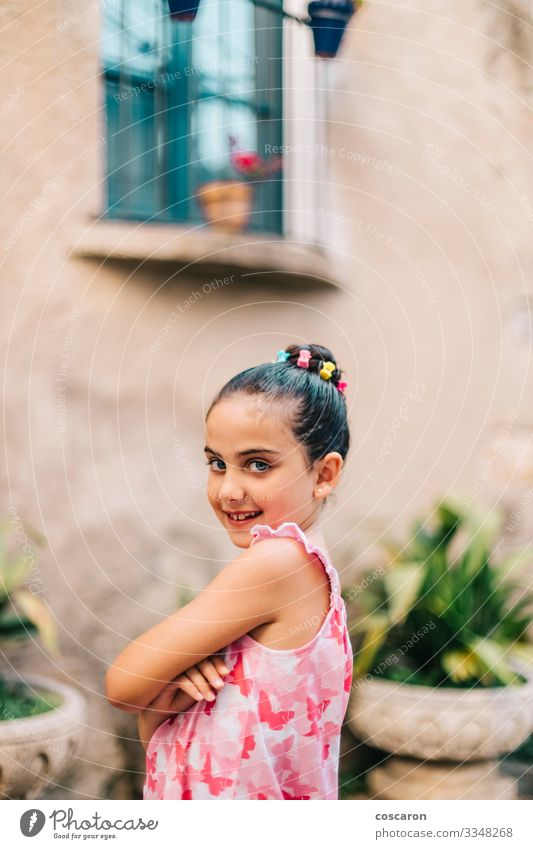 Portrait of a cute girl on a summer day Lifestyle Style Beautiful Leisure and hobbies Summer Summer vacation Child Schoolchild Human being Feminine Toddler Girl