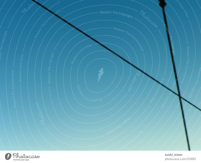 Sky Blue Far-off places Room Industry Cable Transmission lines