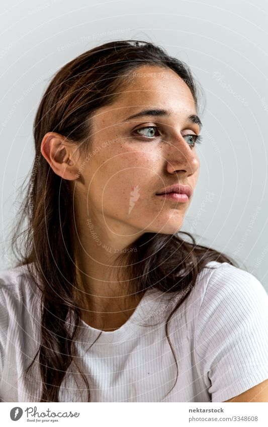 Portrait of a Mixed Race Young Woman Beautiful Face Adults Youth (Young adults) Youth culture Truth Smart Integrity girl wall Indian Mixed race ethnicity
