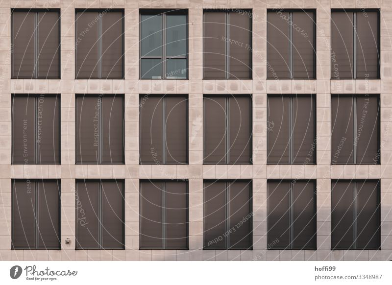 Facade with windows House (Residential Structure) Bank building Architecture Window Venetian blinds Esthetic Exceptional Elegant Uniqueness Modern Cliche Town