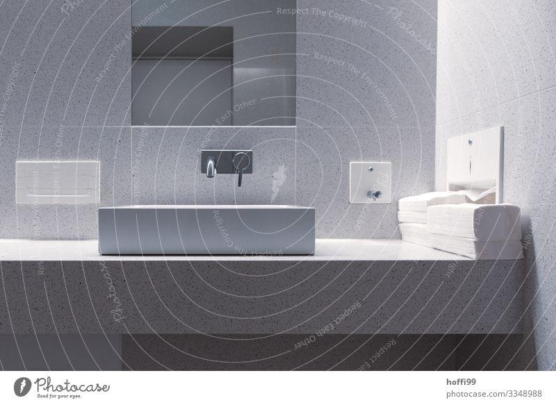 clean thing Sink Tap Sanitary facilities Bathroom mirror Mirror Towel Towel dispenser Soap holder Vanity Esthetic Fragrance Elegant Fresh Uniqueness Wet Clean