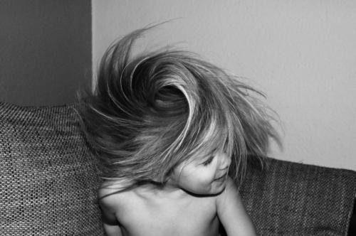 whirlwind Toddler Girl Head Hair and hairstyles 1 Human being 3 - 8 years Child Infancy Happiness Fresh Funny Speed Crazy Shake Rotate Black & white photo