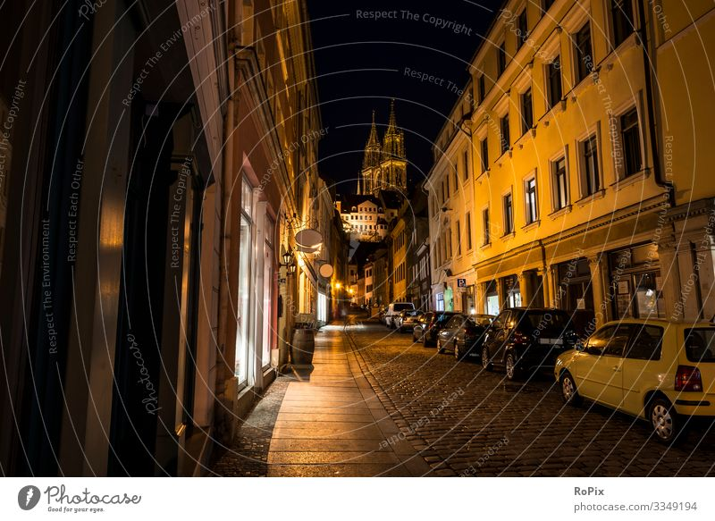 Night in the strets of Meissen. Lifestyle Style Design Vacation & Travel Tourism Sightseeing City trip Education Work and employment Profession Craftsperson