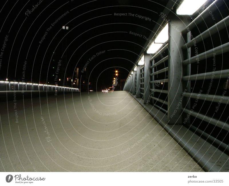 The shining path. Town Lighting Design Night Bridge Lanes & trails Modern Duisburg Inner Harbour