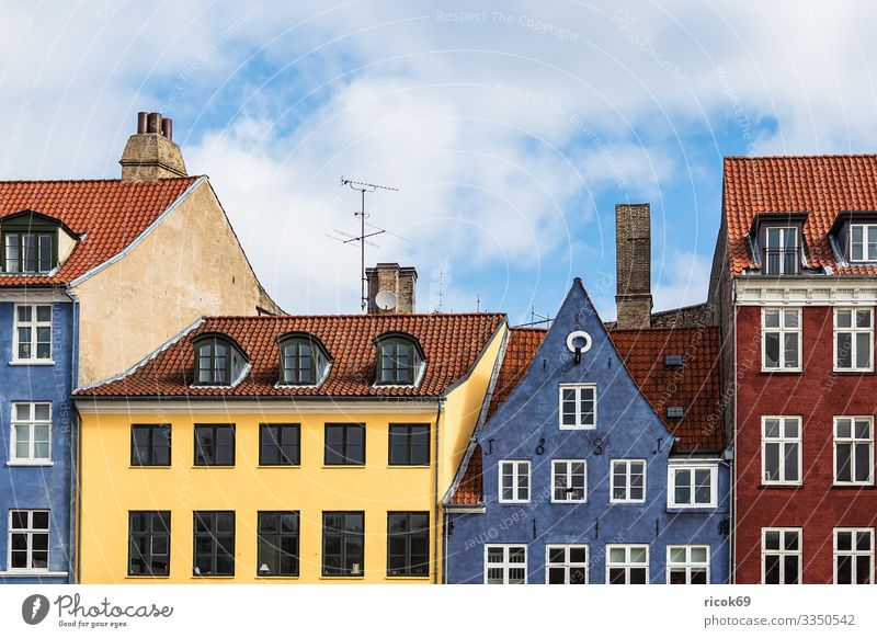 Building in the city of Copenhagen, Denmark Vacation & Travel Tourism House (Residential Structure) Clouds Town Architecture Facade Tourist Attraction