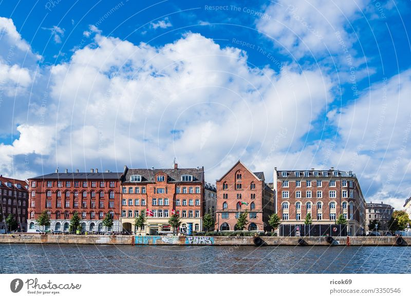 Building in the city of Copenhagen, Denmark Vacation & Travel Tourism House (Residential Structure) Water Clouds Town Architecture Facade Tourist Attraction