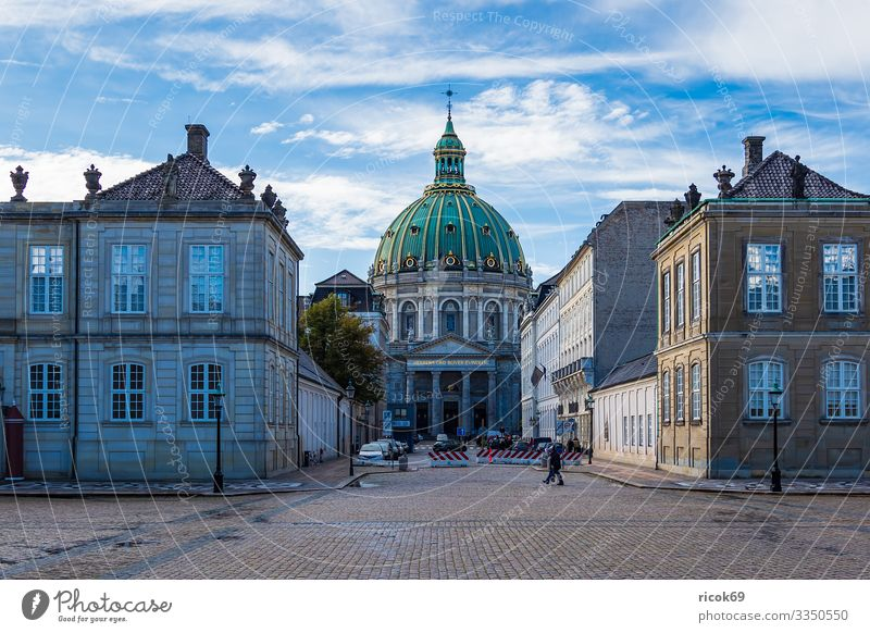 Church of Frederik in the City of Copenhagen, Denmark Vacation & Travel Tourism House (Residential Structure) Clouds Town Building Architecture