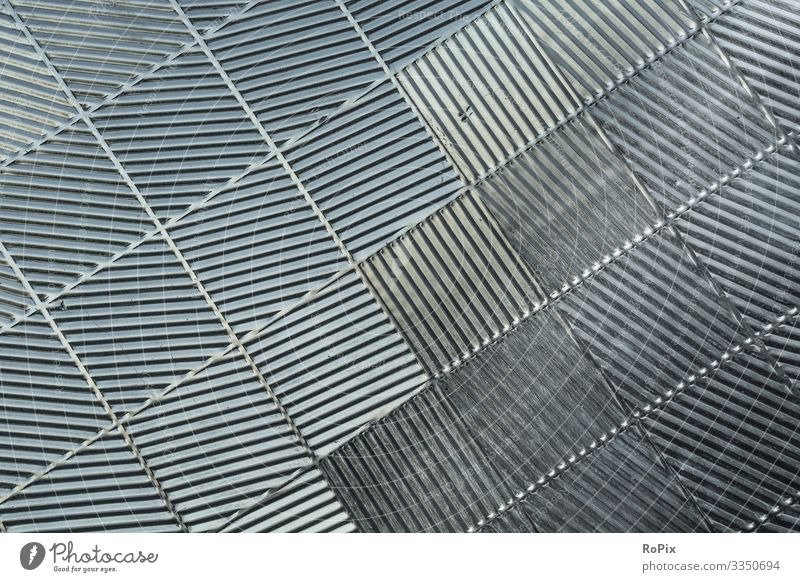 Abstract metal wall pattern. Lifestyle Style Design Living or residing Interior design Science & Research Work and employment Profession Workplace Factory