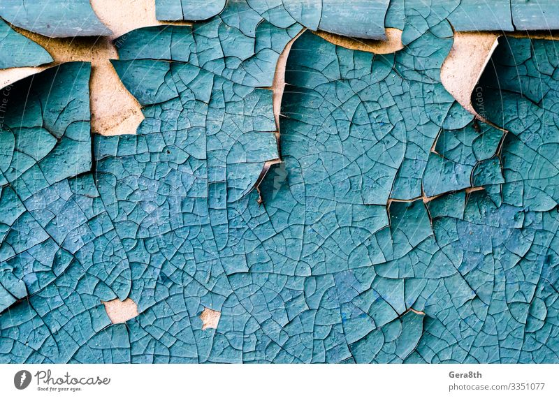 wall texture with cracked peeling blue paint Concrete Old Dirty Retro Blue Colour Blank concrete wall Crack & Rip & Tear damage Grunge Rough Shabby Surface
