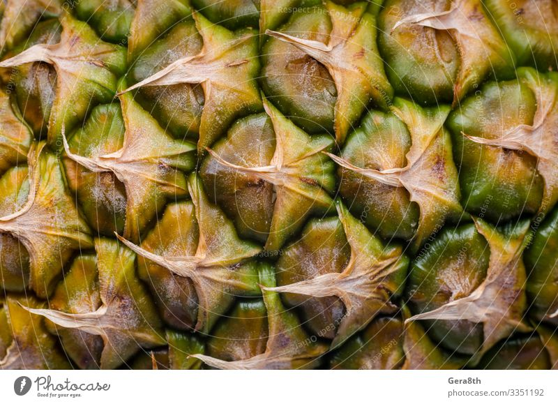 peel of ripe pineapple macro closeup Fruit Exotic Utilize background blank template detailed exotic fruit food Pineapple pineapple pattern pineapple peel
