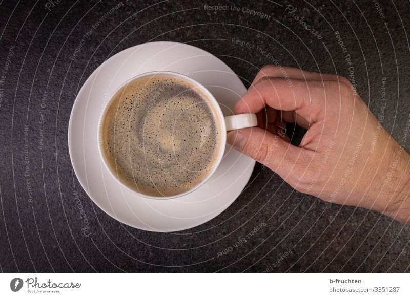 A cup of coffee Food Beverage Drinking Hot drink Coffee Espresso Plate Cup Restaurant Fingers Utilize Touch To hold on To enjoy Fresh To have a coffee