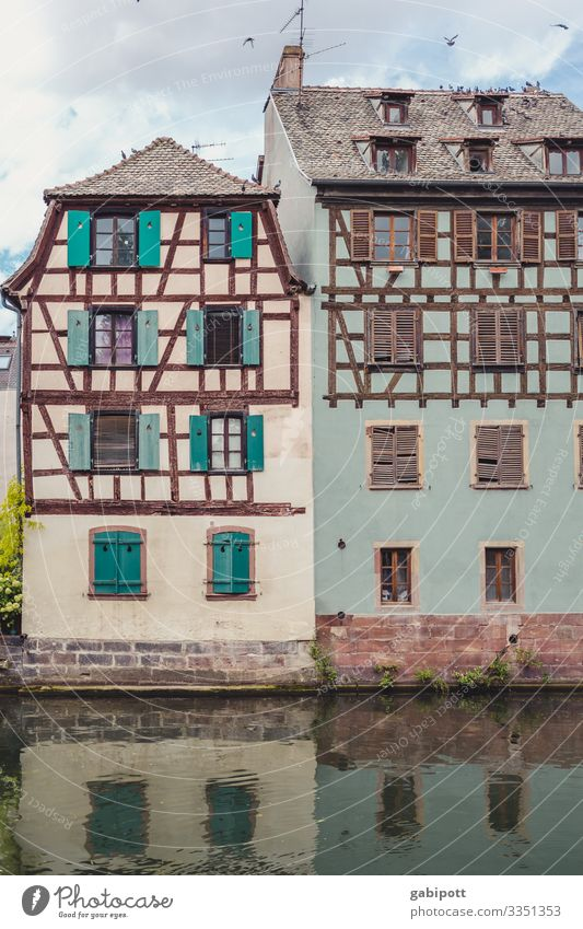 City trip Strasbourg 5/5 Vacation & Travel Tourism France Europe Downtown Old town House (Residential Structure) Facade Window Friendliness Happiness