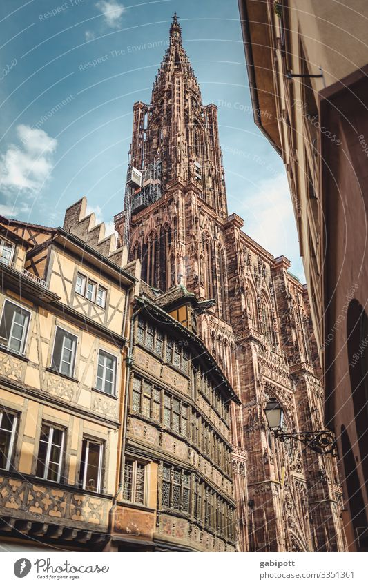 City trip Strasbourg 2/5 France Europe Town Downtown Old town House (Residential Structure) Church Dome Manmade structures Facade Tourist Attraction Landmark