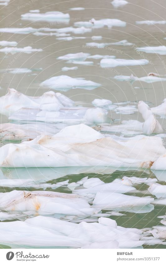 Ice floes in water Environment Nature Landscape Plant Climate Climate change Weather Bad weather Storm Frost Coast Ocean Lake Brook Fear of the future Dangerous