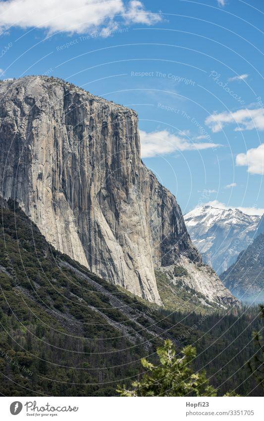 El Capitan in Yosemite National Park Yosemite Park Waterfall Granite Stone rock Tree trees Tall Steep huge River Nature Landscape Impressive Mountain