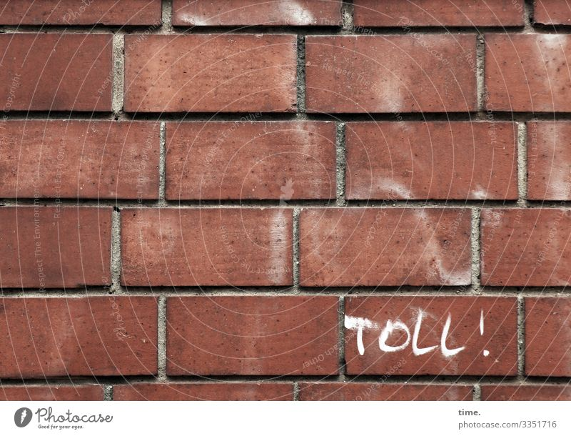 for whatever reason Building Wall (building) Stone Wall (barrier) Architecture Design Facade great Letters (alphabet) graffiti Exclamation mark Brick brick wall