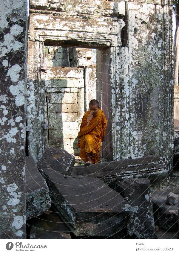 Child Man Calm Boy (child) Orange Ruin