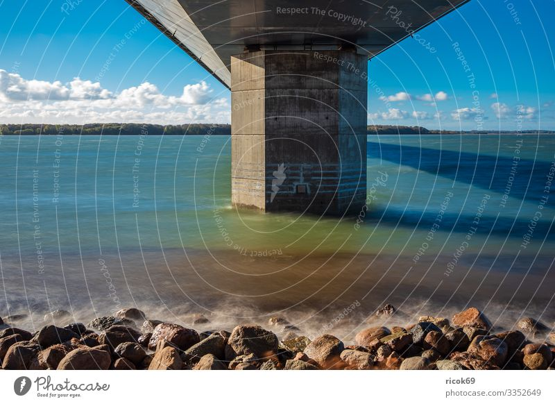 A bridge between Zealand and Falster in Denmark Vacation & Travel Tourism Nature Landscape Water Clouds Coast Baltic Sea Bridge Architecture Tourist Attraction