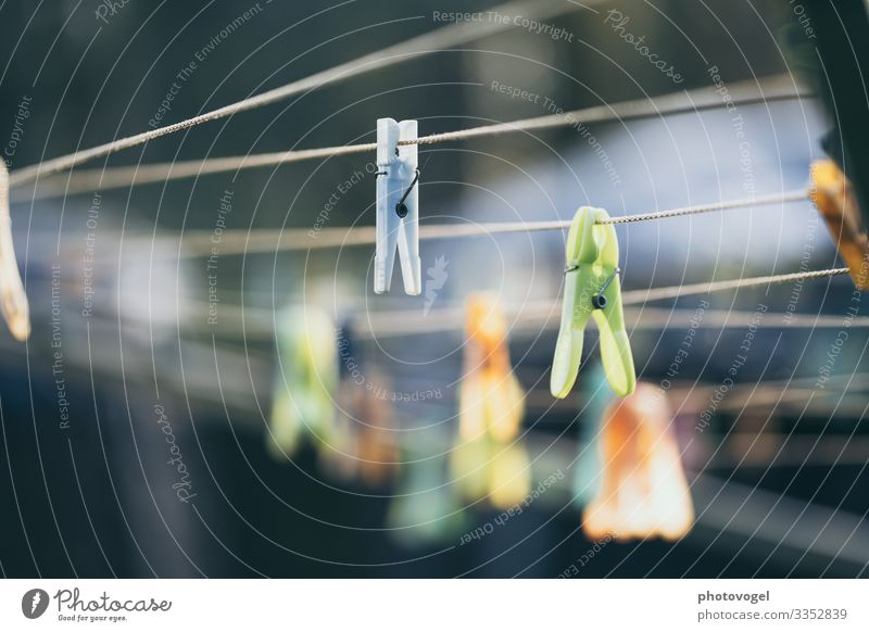 clothesline Laundry Clothesline Clothes peg Blur Ease Easy Photos of everyday life Everyday life Household Arrangement