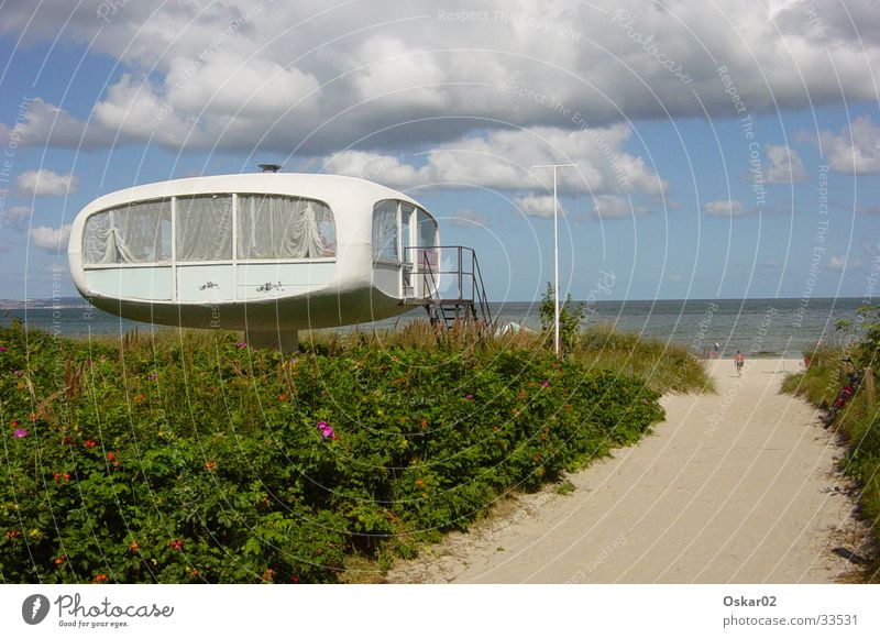 sea view Rügen Beach Nostalgia for former East Germany Concrete Architecture GDR