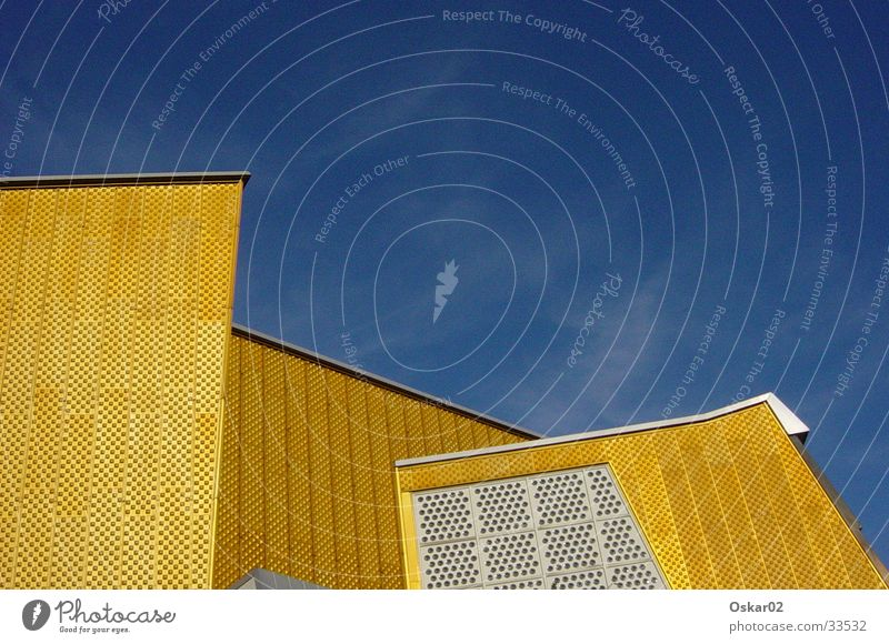 philharmonic orchestra Berlin Philharmonic Building Architecture Sharoun Gold Modern