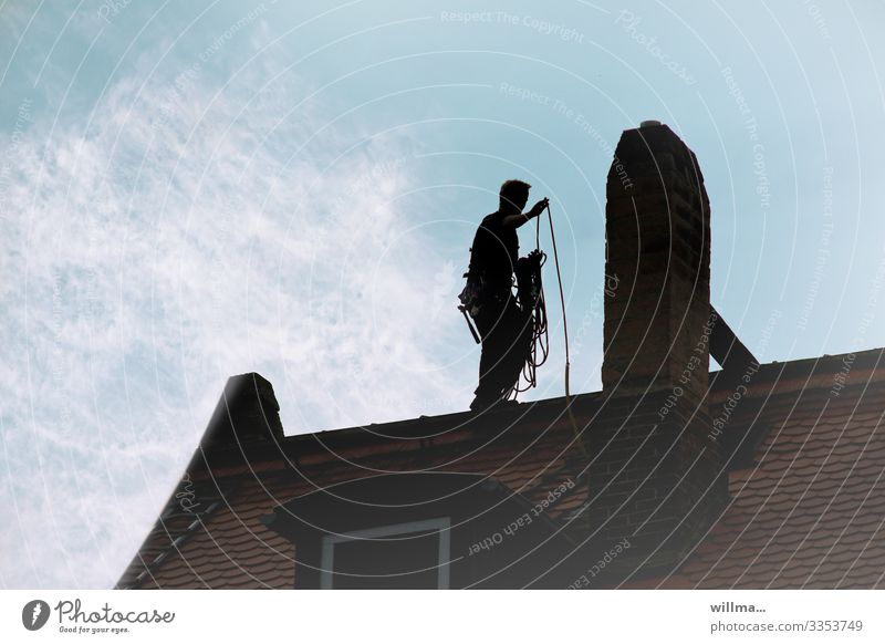 the black man on the roof Work and employment Craftsperson Chimney sweep guild handicraft trade Good luck charm Workplace Craft (trade) Masculine Man Adults