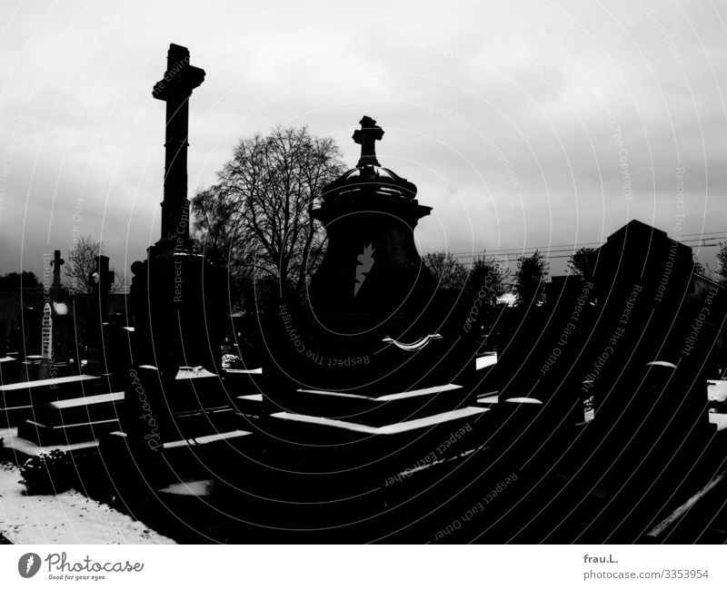 Cemetery Flanders Vacation & Travel Tourism Winter Snow Veurne Belgium Town Deserted Esthetic Dark Moody Sadness Concern Grief Death Tombstone War Belief