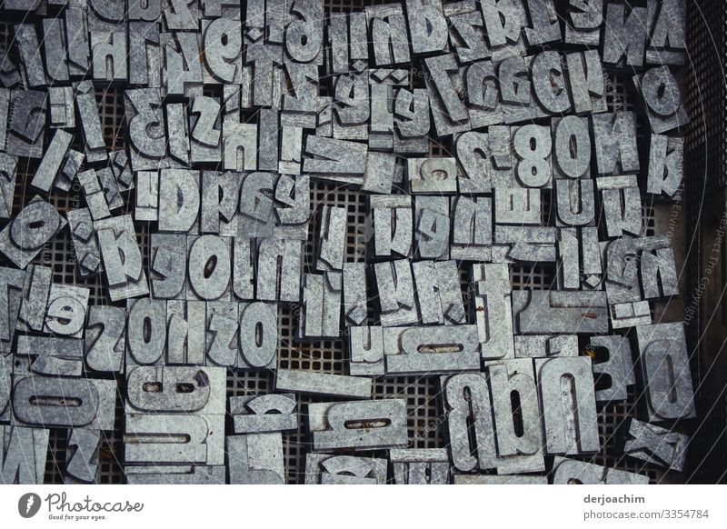 characters - salad, all in one box Letters (alphabet) Characters Word Typography Low-cut Sign Text Print media Muddled Symbols and metaphors Deserted