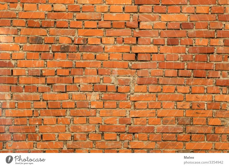 Old brick wall Background picture Block Brick Pattern Structures and shapes Wall (building) Building Cement Concrete Red Surface Wallpaper Architecture