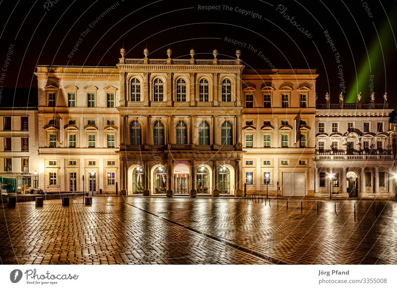 Night photograph of Museum Babarini in Potsdam Germany Eurpoa Town Capital city Downtown House (Residential Structure) Manmade structures Building Architecture