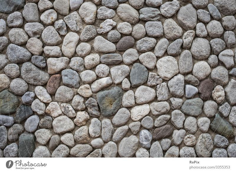 Findling brickwork masonry Wall (barrier) rampart Boulders pebble Pebble Stone Natural stone Stone wall Wall (building) Manmade structures Architecture texture