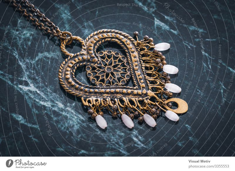 Ethnic style heart pendant Design Beautiful Decoration Craft (trade) Art Fashion Jewellery Metal Ornament Heart Colour Creativity background boho boho style