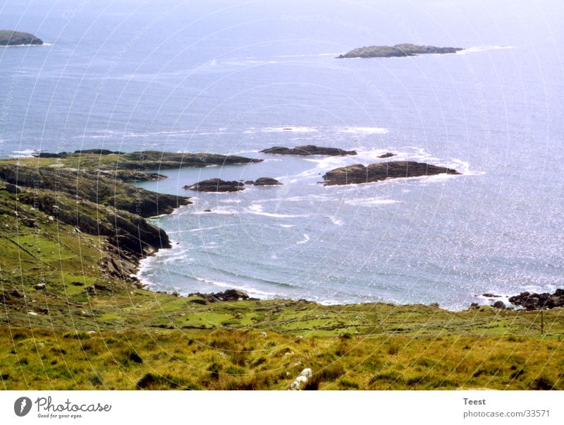 irish coast Coast Stony Ocean Body of water Ireland Water Rock Bay