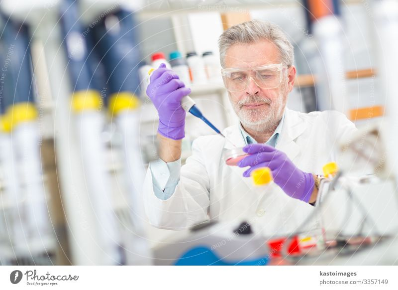 Life scientist researching in the laboratory. Health care Medication Science & Research Study Laboratory Examinations and Tests Work and employment Profession