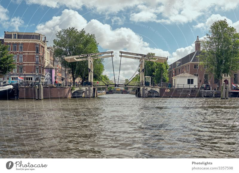 Amsterdam - Canals - Bridge Netherlands Europe Town Port City Downtown Old town Manmade structures Architecture Tourist Attraction Landmark Boating trip Observe
