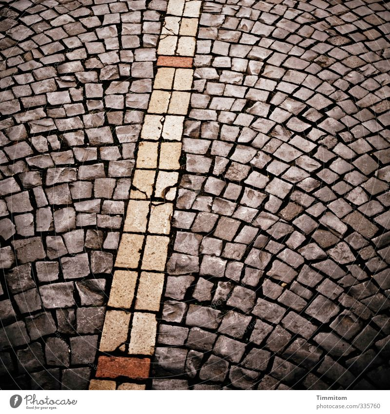 City Dark Street Lanes & trails Stone Natural Line Esthetic Simple Firm Paving stone Old town