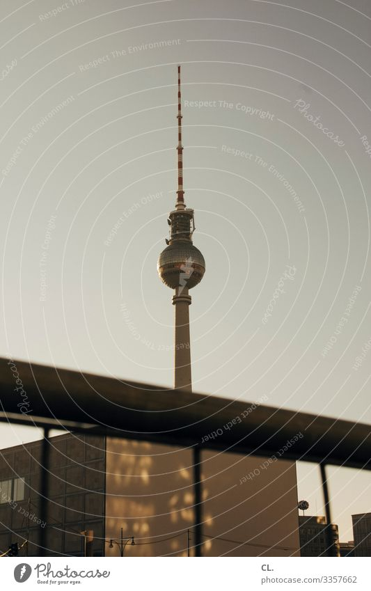 Berlin Berlin TV Tower Alexanderplatz Architecture Television tower Landmark Capital city Sky Monument Downtown Berlin Sphere Germany Tourism Tourist Attraction