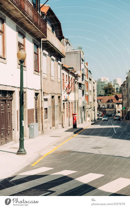 postage paid City trip Summer Summer vacation Cloudless sky Beautiful weather Porto Portugal Europe Town House (Residential Structure) Building Architecture