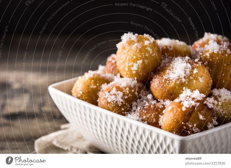 Carnival fritters or buñuelos de viento for holy week Artisan Ball Breakfast Roll Fairs & Carnivals Christmas & Advent Cooking Dessert Dough Flour Food