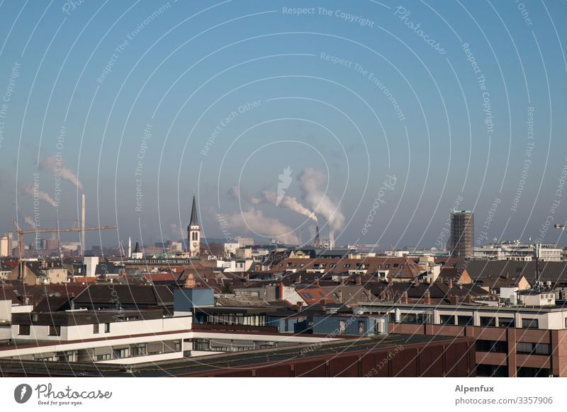 Climate change | Ingredients I Industrial plant Colour photo Exterior shot Deserted Day Factory Environmental pollution Environmental protection Smoke Chimney