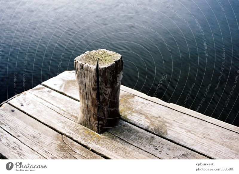 jetty Footbridge Wood Scandinavia Watercraft Navigation Pole