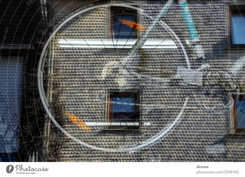 the bicycle dealer opposite Old town House (Residential Structure) Facade Window Shop window Bicycle Observe Speed Shopping Reflection Store premises Sell