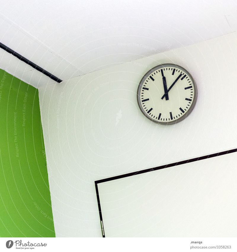 lunch break Prompt Clock Interior design office Business Work and employment Design Wait Style Time Date Meeting Clean Dependability green Academic studies