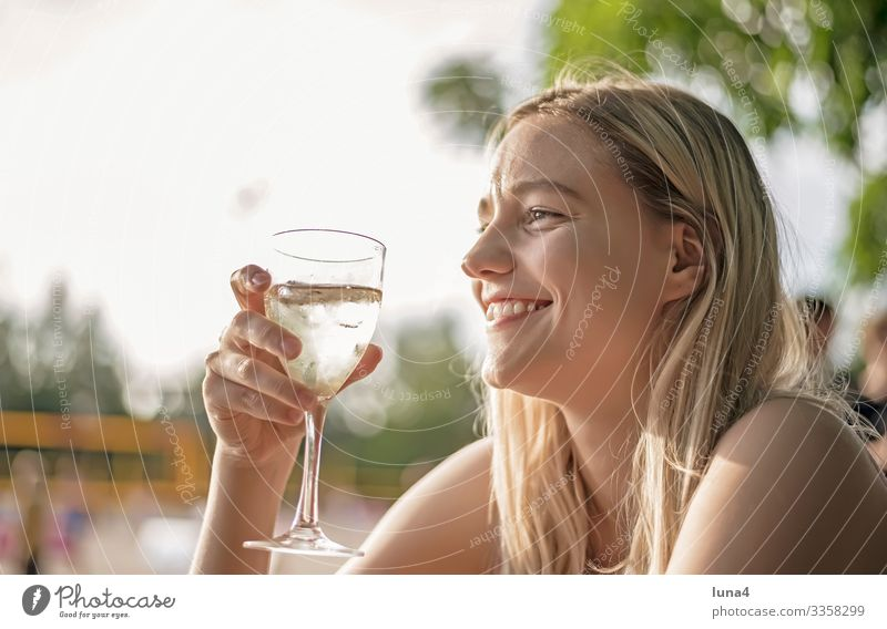 laughing young woman drinking wine Woman Drinking Glass Alcoholic drinks relaxed To enjoy fortunate Beverage Refreshment cheerful Vine deceleration fun youthful