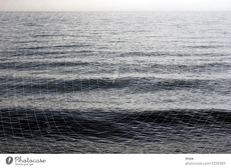 rushing silence #4 Environment Nature Water Horizon Climate Beautiful weather Waves Coast Baltic Sea Maritime Wet Power Might Life Endurance Inspiration Ease