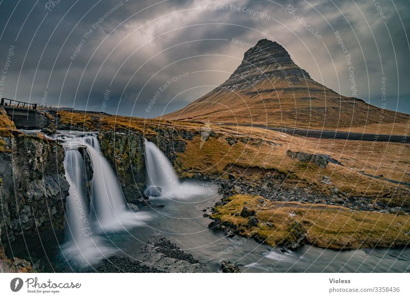 Kirkjufell Iceland Waterfall Mountain Sukkurtoppen Volcano Long exposure Discover Clouds