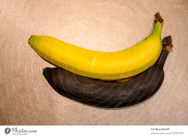 Fresh and spoiled banana Food Fruit Banana Nutrition Healthy Eating Diet Fitness Exotic Delicious Natural Thin Yellow Black Appetite To enjoy Shopping Mature