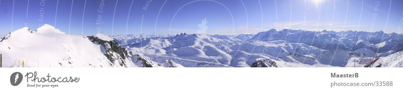 Nature Sky Snow Mountain Landscape Large Horizon Alps Peak Beautiful weather Panorama (Format) Snowcapped peak