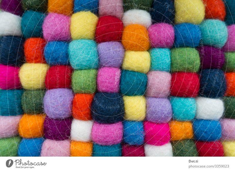 FELT Living or residing Decoration Multicoloured Felt balls felt carpet Carpet Floor mat HANGED Sphere Irregular Soft Colour photo Studio shot Close-up